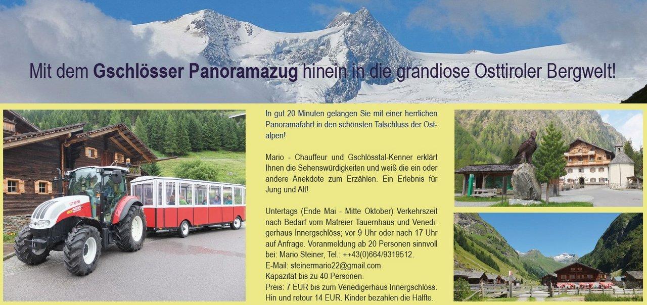 Gschlösser Panoramazug Matreier Tauernhaus - Berghaus Außergschlöß/Außergschlöß - Frauenbrünnl - Felsenkapelle - Venedigerhaus Innergschlöß