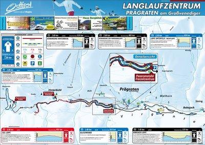 Langlaufen in Prägraten a.G. - Loipenkarte