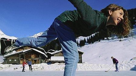 Eislaufplätze findest Du sowohl in Prägraten, wie auch in Virgen und Matrei