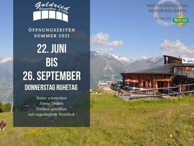 Bergrestaurant Goldried 2.156 m | im SkigebietGG Resorts Matrei Kals Osttirol
