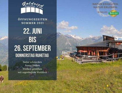 Bergrestaurant Goldried 2.156 m   im SkigebietGG Resorts Matrei Kals Osttirol