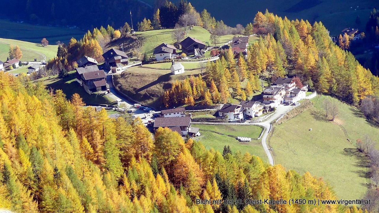 Bichl bei Prägraten am Großvenediger mit der Hl. Geist-Kapelle (1450 m)