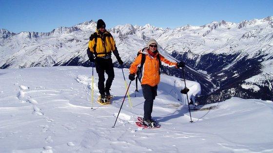 Schneeschuhwanderung in Virgental, wandern einmal anders