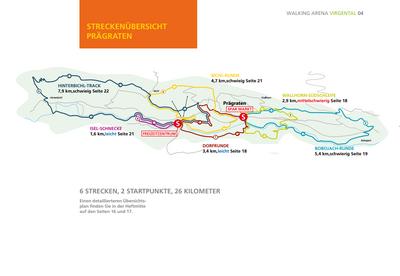 Nordic Walking im Virgental - Streckenübersicht Prägraten am Großvenediger
