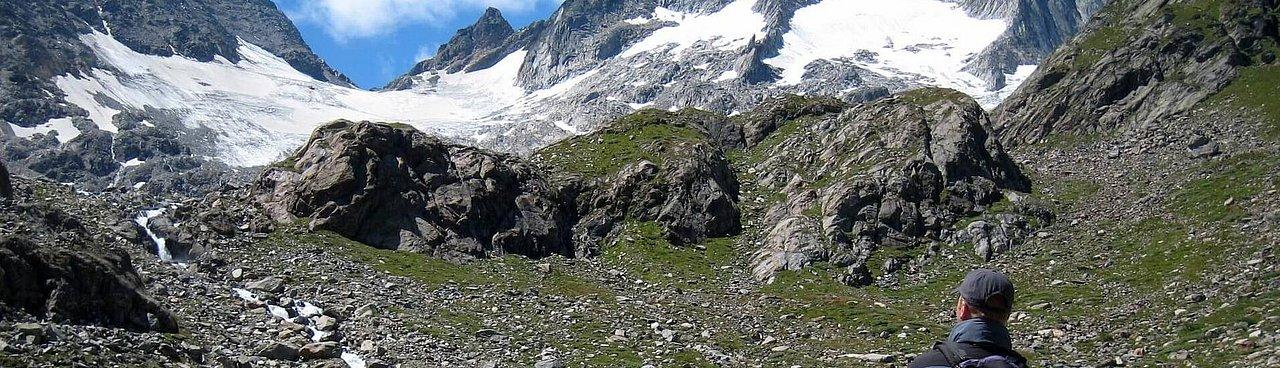 Österreichische Berg- und Schiführer - Hier das Reggentörl 3047 m über das Reggentörl 3047 m und Gletscher zur