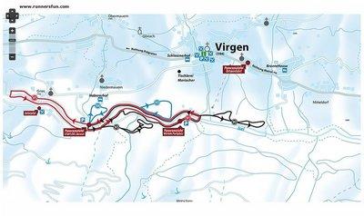 Langlaufen in Virgen - Loipenkarte