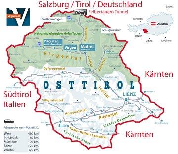 Osttirol Karte Landkarte | Virgental Matrei in Osttirol Prägraten am Großvenediger