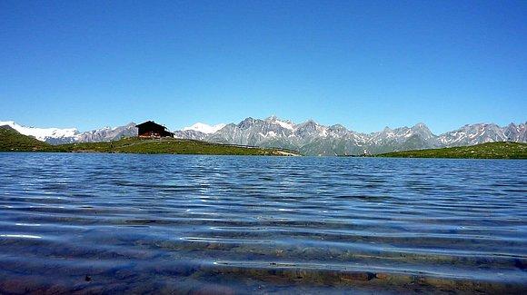 Zupalsee, Zupalseehütte am Lasörling Höhenweg© Sabine Voss