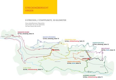 Nordic Walking im Virgental - Streckenübersicht Virgen