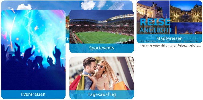 Alle Busreisen- Angebote für Eventreisen, Sportevents, Städtereisen, Tagesfahrten...