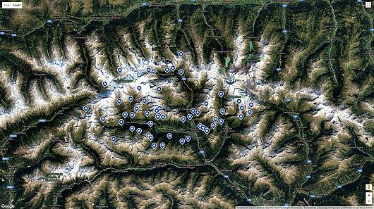 Hier findest Du einen Übersichtsplan mit detaillierter Beschreibung der Hütten und Almen | Virgental.at