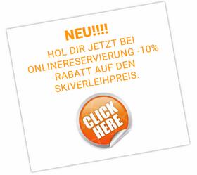 Neu!! Onlinereservierung und 10% Rabbat sparen