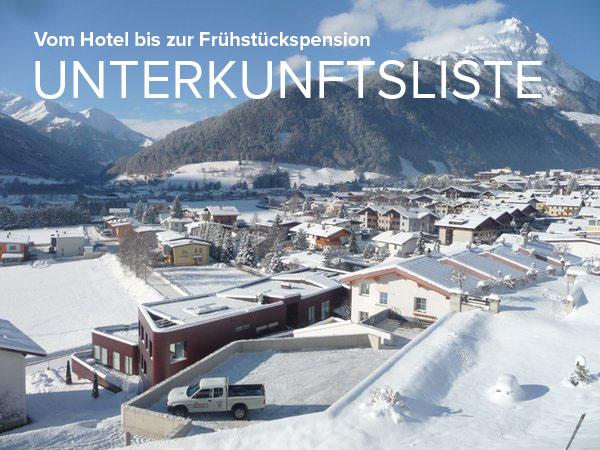 Sämtliche Unterkünfte im Virgentaler und Matrei in Osttirol - Unterkunftsliste