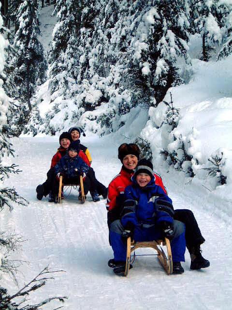 Rodeln mit Kindern im Virgental, die Erlebnissregion in Osttirol