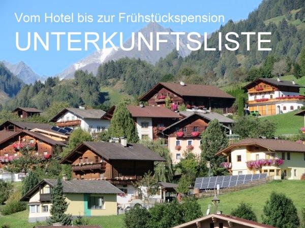 Sämtliche Osttiroler Unterkünfte im Virgentaler Unterkunftsverzeichnis erreichst du per E-Mail oder Formular.