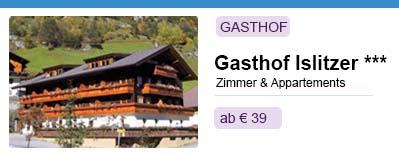 Gasthof Islitzer in Osttirol