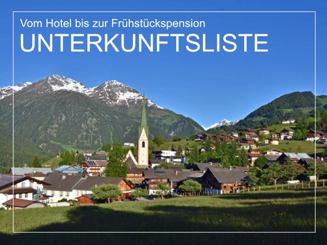 Unterkunftsliste - Sämtliche Unterkünfte im Virgenta und Matrei in Osttirol | Virgental.at