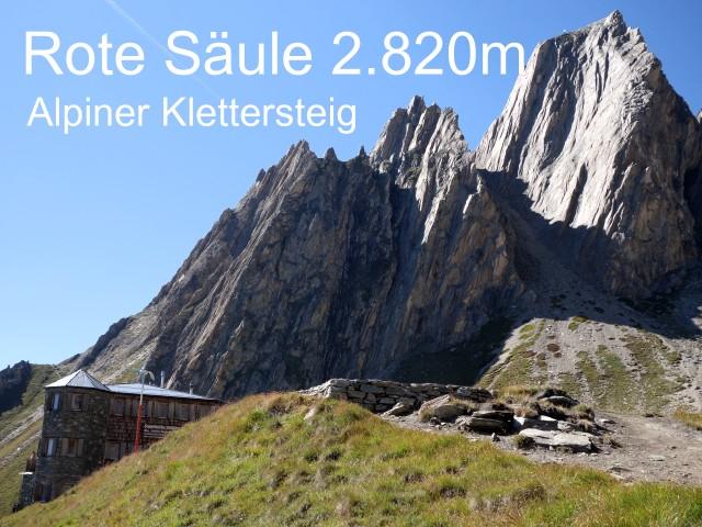 Alpiner Klettersteig - Neue Sajathütte 2.600m