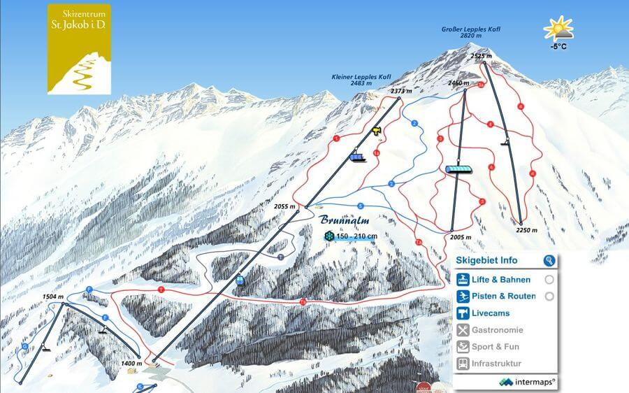 Skigebiet-St-Jakob-Defereggental-Osttirol-Karte