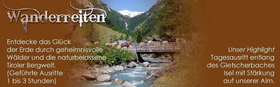 Unser Reitwegenetz liegt im Osttiroler Virgental und reicht bis zum Fuße des Großvenedigers im Nationalpark Hohe Tauern auf ca. 2.000 m.