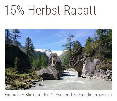 15% Herbst Rabatt